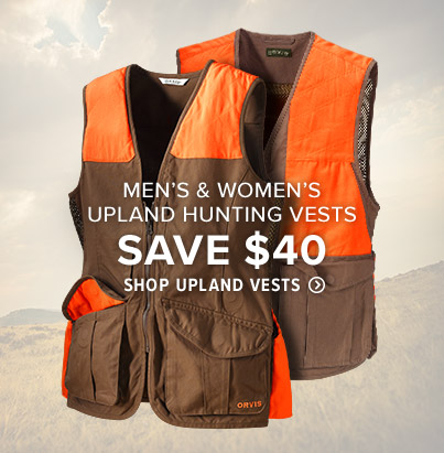 LIGHT ON THE SHOULDERS, LOADED WITH FEATURES Our upland vests incorporate all the features and storage you need making them the ultimate field companions wherever you hunt. Shop Upland Vests