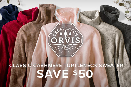 WOMEN'S CLASSIC CASHMERE TURTLENECK SWEATER - SAVE $50 - NUMBER ONE ON HER WISH LIST The softest pure cashmere elevates the timeless turtleneck, making this wardrobe staple a pleasure to wear and to give.