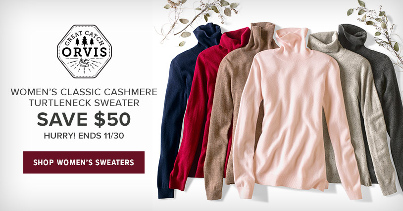 WOMEN'S CLASSIC CASHMERE TURTLENECK SWEATER-SAVE $50-HURRY! ENDS 11/30