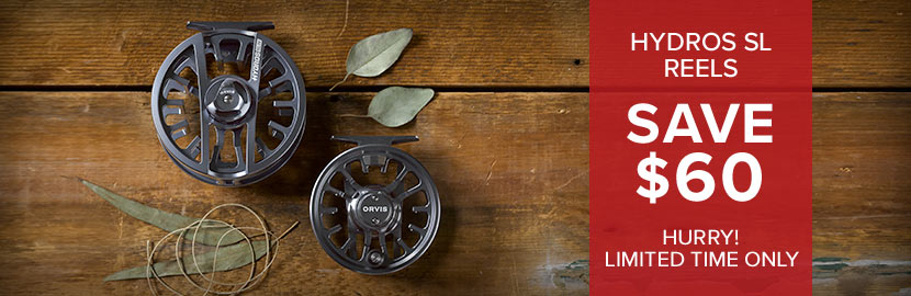 Hydros SL Reels - Save $60 - Hurry! Limited Time Only!