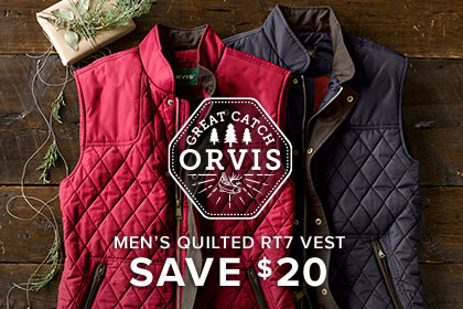 MEN'S QUILTED RT7 VEST SAVE $20