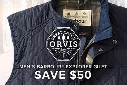 MEN'S BARBOUR® EXPLORER GILET-SAVE $50