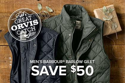 MEN'S BARBOUR® BARLOW GILET SAVE $50
