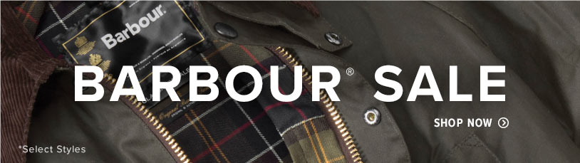 Shop the Men's Barbour Sale. Select Styles. Prices as Marked.