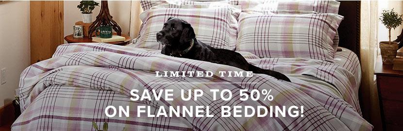 50% OFF ALL FLANNEL BEDDING - SHOP BEDDING