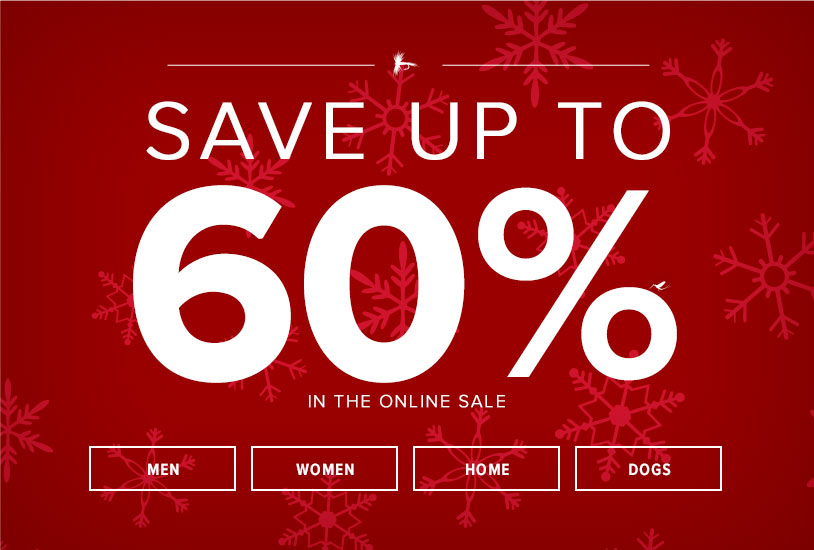 SAVE UP TO 60% in the online sale