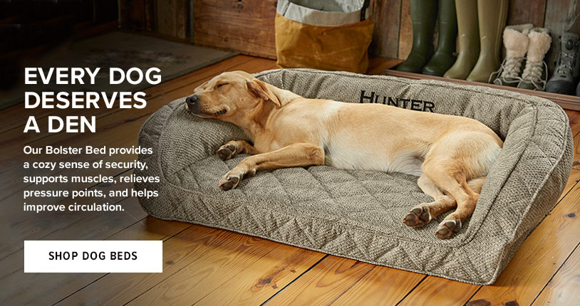 EVERY DOG DESERVES A DEN - Our Bolster Bed provides a cozy sense of security, supports muscles, relieves pressure points, and helps improve circulation. Shop Dog Beds