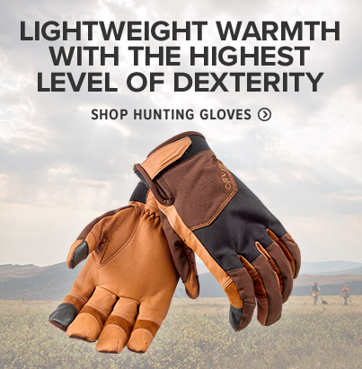 LIGHTWEIGHT WARMTH WITH THE HIGHEST LEVEL OF DEXTERITY - SHOP SHOOTING GLOVES