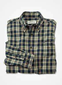 Men's tattersall dress shirts from Orvis are designed with traditional styling.