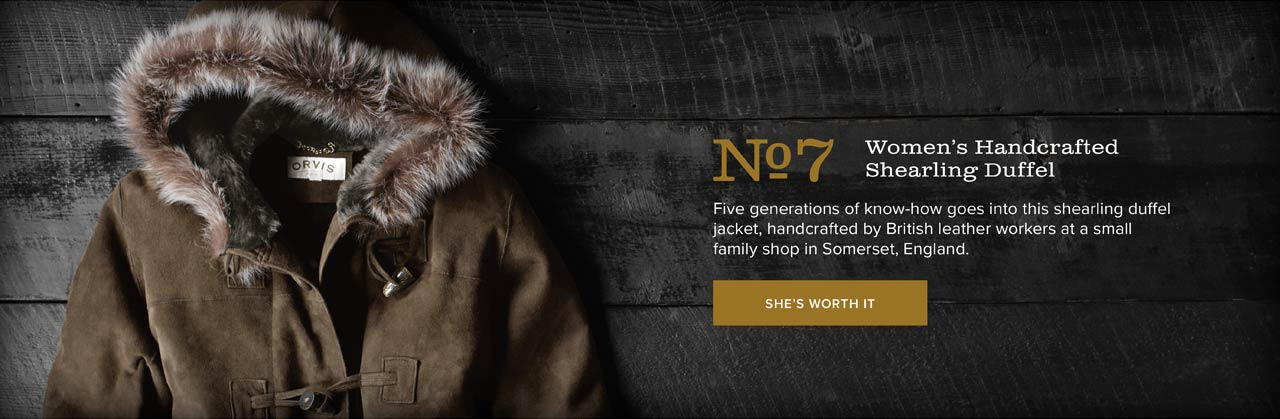 No.7 Women's Handcrafted Shearling Duffel | Five generations of know-how goes into this shearling duffel jacket, handcrafted by British leather workers at a small family shop in Somerset, England. | She's Worth It