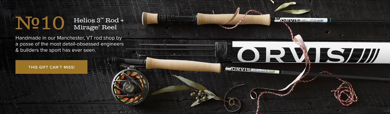#10 Helios 3™ Rod + Mirage® Reel Handmade in our Manchester, VT rod shop by a posse of the most detail-obsessed engineers & builders the sport has ever seen. | THIS GIFT CAN'T MISS!