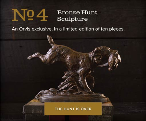 No.4 Bronze Hunt Sculpture | An Orvis exclusive, in a limited edition of ten pieces. | THE HUNT IS OVER