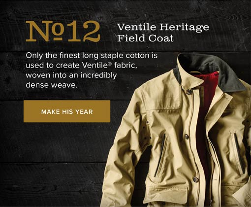 No.12 Ventile Heritage Field Coat | Only the finest long staple cotton is used to create Ventile® fabric, woven into an incredibly dense weave. | MAKE HIS YEAR