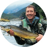 Dave Perkins fly-fishing.