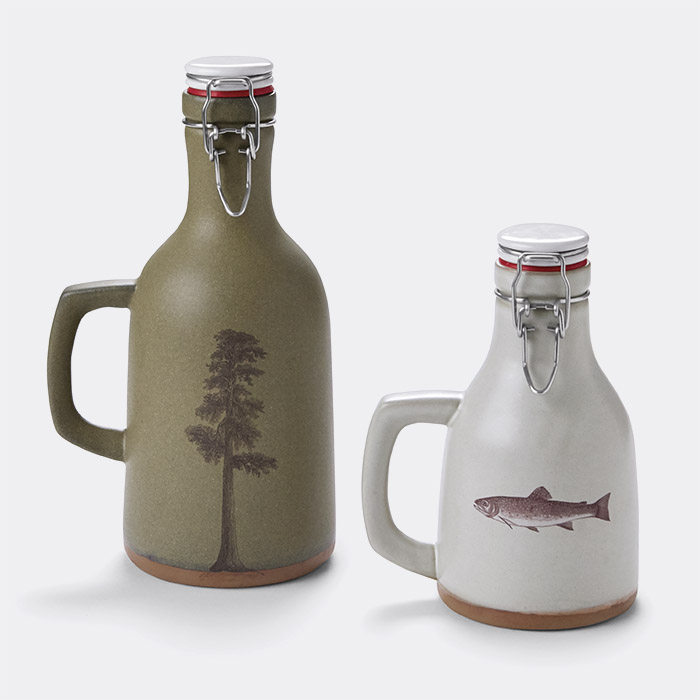 Handmade Ceramic Growler and Howler