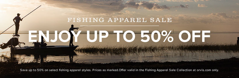 Save up to 40% on Fishing Apparel