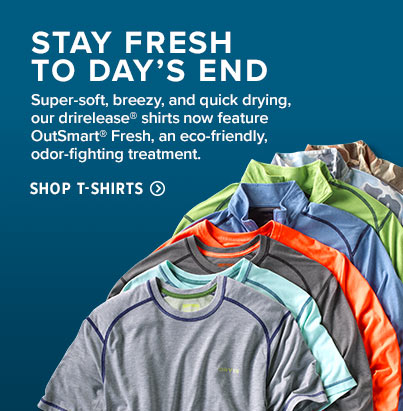 Stay fresh till day's end. Shop T-shirts