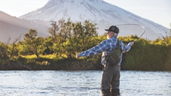 Man Fishing in Patagonia