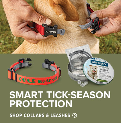 SMART TICK-SEASON SOLUTION  Our best selling personalized adjustable dog collar, designed with interior clips that hold a Seresto? or standard flea-and-tick collar.  Shop Collars