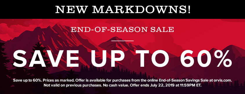 NEW MARKDOWNS | END OF SEASON SALE | Up to 60% off