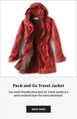 Pack-and-Go Travel Jacket | Our earth-friendly Pack-And-Go Travel Jacket is a wind-resistant layer for every adventure. SHOP NOW