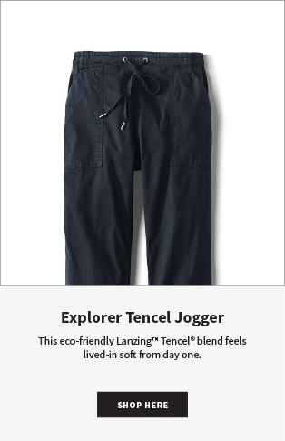 Explorer Tencel Jogger | This eco-friendly Lanzing™ Tencel® blend feels lived-in soft from day one.