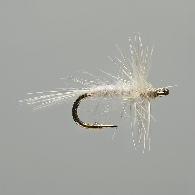 The simplest of midge dry fly patterns in a number of colors and very small sizes to imitate adult midges. Midge hatches are extremely prolific hatches throughout the country and can provide some excellent fishing in cold weather. Don't ever be without a good midge selection as it may just make your day when nothing else is happening. In olive, grey, cream. Midge fly patterns available in sizes: 20, 22, 24, 26.