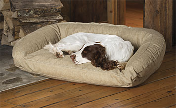 Even a resolute chewer deserves the security of this ToughChew® Memory Foam Bolster Dog Bed.