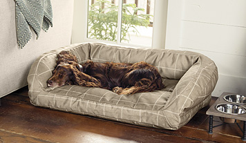 This ComfortFill Bolster Dog Bed features ToughChew fabric that even avid chewers can't tear.