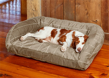 The ComfortFill-Eco Bolster Dog Bed features ToughChew fabric that even avid chewers can't rip.