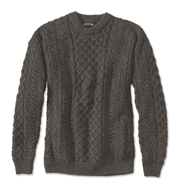 Men's Vintage Style Sweaters – 1920s to 1960s Black Sheep Irish Fishermans Sweater  Black Sheep Irish Fishermans Sweater 2XL $129.00 AT vintagedancer.com