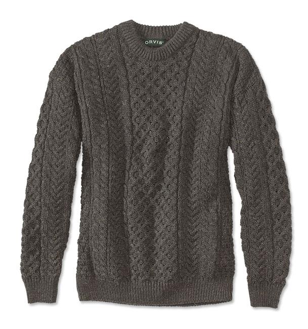 Edwardian Men's Shirts & Sweaters Black Sheep Irish Fishermans Sweater  Black Sheep Irish Fishermans Sweater 2XL $129.00 AT vintagedancer.com