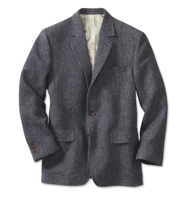 Men's Vintage Style Coats and Jackets Lightweight Highland Tweed Sport Coat  Regular BlueGray 38 $298.00 AT vintagedancer.com
