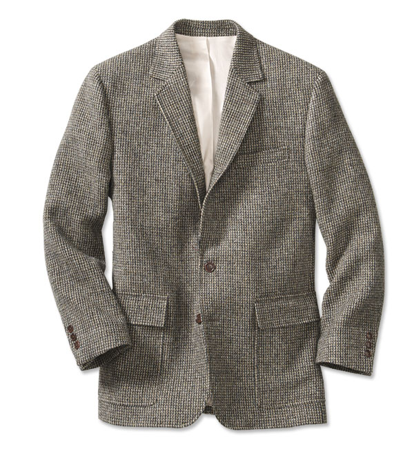 1900s Edwardian Men's Suits and Coats Lightweight Highland Tweed Sport Coat  Regular GrayTanWhite 46 $379.00 AT vintagedancer.com