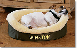 Genuine Sheepskin Dog Bed