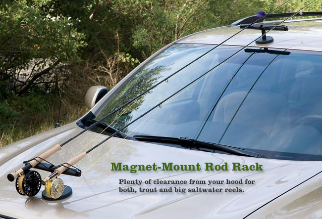 The classic fly rod forum interior rod rack for car for Fishing rod car rack