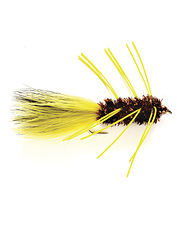 Fish love the contrasting tail colors and rubber legs on this streamer fly pattern.