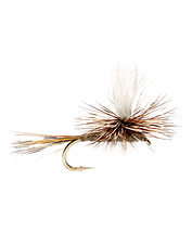 The light-colored post on this classic dry fly pattern ensures good visibility in a variety of conditions.
