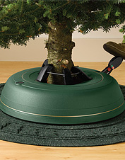 Our adjustable Christmas tree stand makes setting up easy.