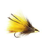 This muddler fly works well in big rivers and fast streams.