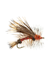 This attractor dry fly is great for imitating stoneflies and caddis.
