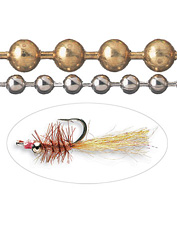Add weight and eyes to your favorite flies in one step with bead chains.