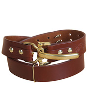 A clever adjustment feature ensures this Bridle Leather Cinch Belt offers a perfect fit.