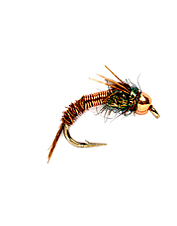 This nymph pattern provides a realistic design with a hint of flash.
