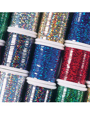 Tying flies with our holographic tinsel material will ensure a terrific fly pattern. Made in USA.