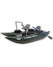 This inflatable pontoon boat offers years of durable fishing excitement.