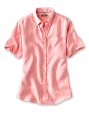 Enjoy the cool, breathable comfort of our Short-Sleeved Pure Linen Shirt in the summer heat.