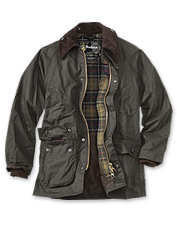 Barbour's waxed cotton jackets for men stand up to cold, wind, and rain.