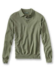 The classic polo shirt earns a lavish update with a blend of cotton, silk, and cashmere.