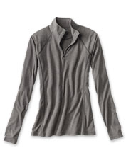 Our Women's drirelease Quarter-Zip Tee offers moisture-wicking comfort for every adventure.